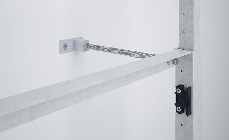 Adjustable back to wall fixing